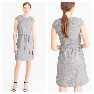 J Crew Tweed Belted Cap Sleeve Dress